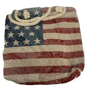 Handbags - New Large Cloth Tote Bag Rope Handle US Flag Desig